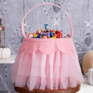 Pink Tulle Treat Bag