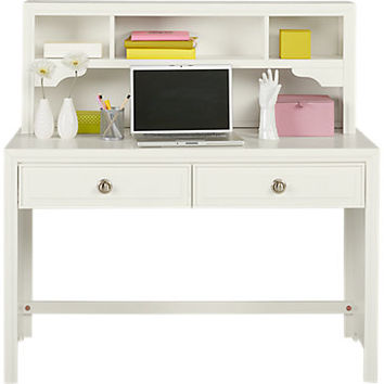 Belcourt Jr. White Desk & Hutch - Desks White