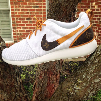 Custom Nike Roshe Run with Louis Vuitton fabric