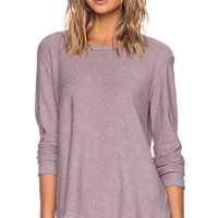 Wilt Heather Jersey Asymmetrical Slouchy Tunic in Lilac