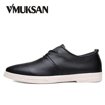 Men Leather Shoes High Quality Business Men's Casual Shoes Lace Up Wedding Man Oxofrds
