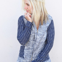 Stitched In Blue Cardigan