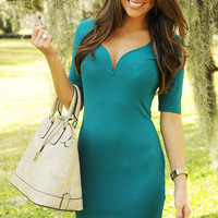 Lover On My Mind Dress: Teal