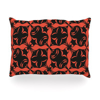 "Miranda Mol ""Oval Orange Love"" Oblong Pillow"