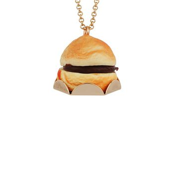 N2 by Les Néréides GOURMET COFFEE CHOCOLATE CHOUX BUN LONG NECKLACE