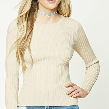Ribbed Knit Sweater Top