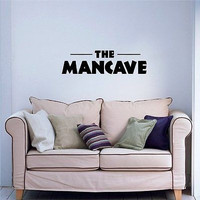 The Mancave Sign Logo Wall Art Decal Sticker a576