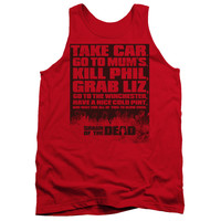SHAUN OF THE DEAD/LIST - ADULT TANK - RED -