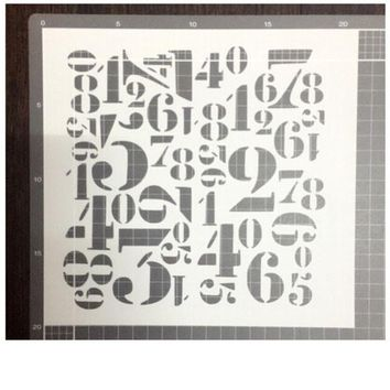 Number Scrapbooking card DIY album masking spray painted template drawing stencils laser cut template AP7051042