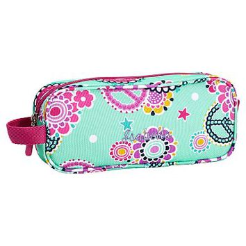 Gear-Up Mint Peace Paisley Pencil Case