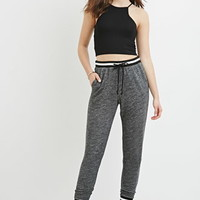Varsity-Stripe Heathered Sweatpants