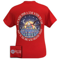 Girlie Girl Originals Stars Moutains Pray Red T-Shirt
