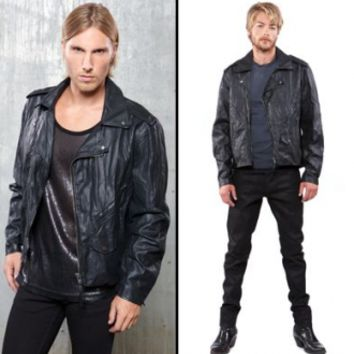 Lip Service Vintage Look Vegan Leather Jacket - Jackets - Men's Online Store
