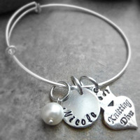 Knitters bracelet Knitting Diva Bracelet Personalized Hand stamped jewelry