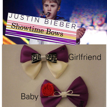 Justin Bieber Bows by ShowtimeBowsbyLouise on Etsy