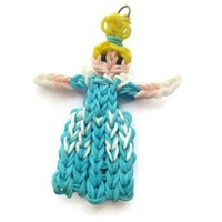Cinderella princess loom band charm character figurine bag zipper