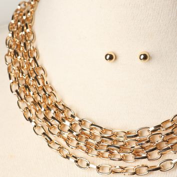 Oval-Link Layered Necklace