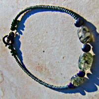 Green Garnet Bracelet Direct Checkout Beaded Stone Woman Chakra Jewelry