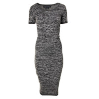 French Connection Womens Wool Blend Fitted Sweaterdress