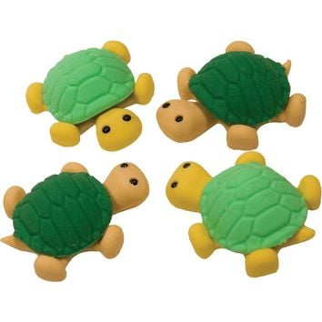 Turtle Erasers - Set Of 4