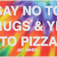 Jac Vanek Yes To Pizza Tie Dye Sticker
