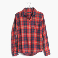 Flannel Cozy Shirt in Ember Plaid