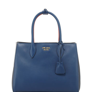 Prada Bibliothèque Medium Colorblock Tote Bag