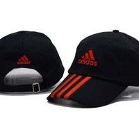 Black & Red Adidas Printed Cotton Baseball Golf Cap