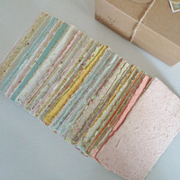 Hand-made Paper, Boxed, Hand Torn Recycled Paper, 100 sheets.