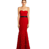 JS Collections Strapless Ruched Gown | Dillards.com