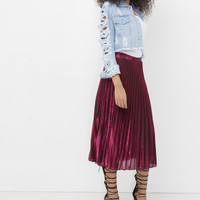 PLEAT YOUR MATCH METALLIC ACCORDION SKIRT