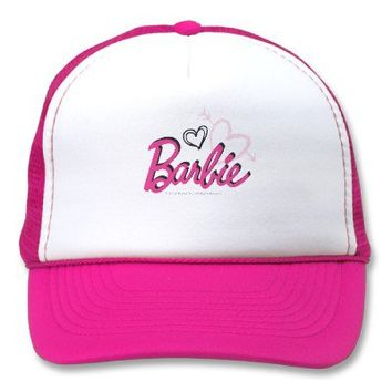 Barbie logo with hearts hat from Zazzle.com