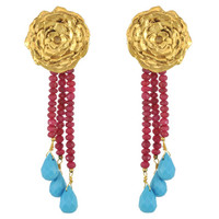 LeiVanKash Ruby Turquoise Earrings | SOPHIESCLOSET.COM | Designer Jewelry & Accessories