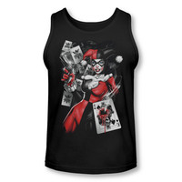 Harley Quinn Smoking Gun Adult Tank Top