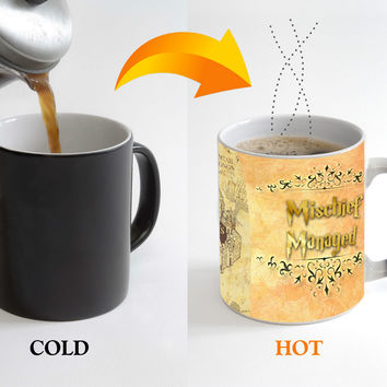 Hot selling Harry Harry Potter Mug Black word hot coffee discoloration Cup of Mark temperature