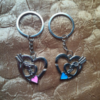 Two keychain for couple in love