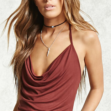 Cowl Neck Halter Top