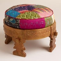 Bajot Stool with Sari Pouf