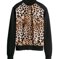 H&M - Fine-knit Wool Sweater - Leopard print - Ladies