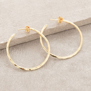 Karma Gold Hoop Earrings