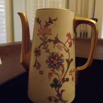 """Royal Worcester Coffee or Teapot without Lid 6"""" dated 1891"""