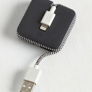 I've Got the Power iPhone Charger in White | Mod Retro Vintage Electronics | ModCloth.com