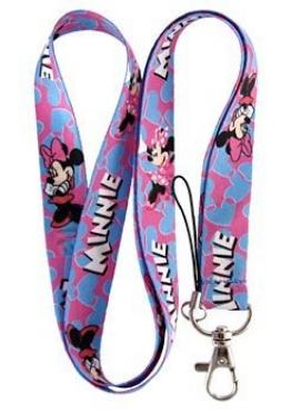 Minnie Mouse Pink and Blue Lanyard