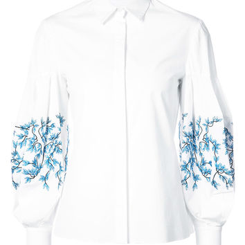 Embroidered Sleeve Shirt