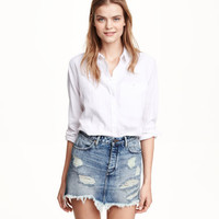 H&M Distressed Denim Skirt $29.99
