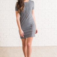 Brice Lace Up Bodycon (Grey)