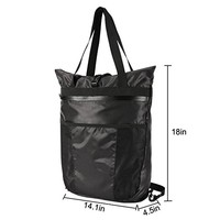 LEAFOREST Lightweight Tote Backpack Water Resistant Foldable Daypacks for Travel