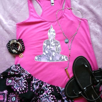 Purple Buddha inspired tank top for trendy girl