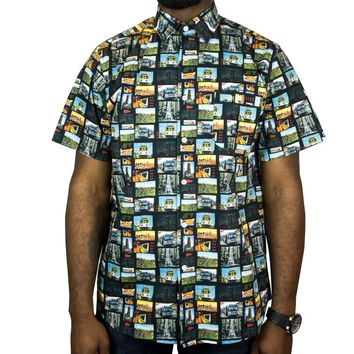 Greetings From SF Short-sleeve Button-up in multi