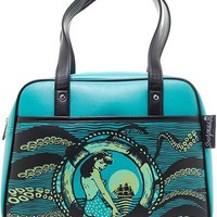 """Tentacled"" Bowler Purse by Sourpuss (Blue)"